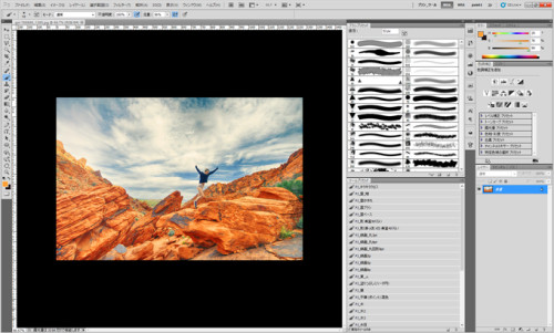 photoshopで枠線を簡単に引く方法_01