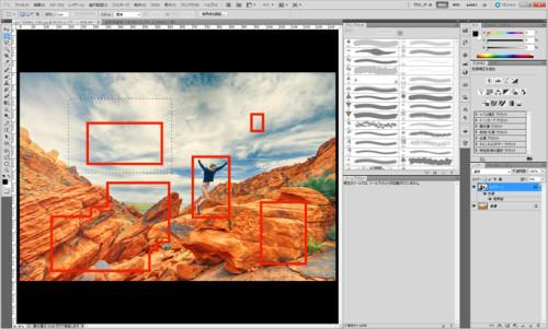 photoshopで枠線を簡単に引く方法_09