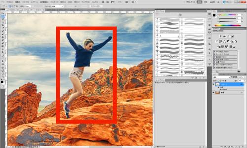 photoshopで枠線を簡単に引く方法_13